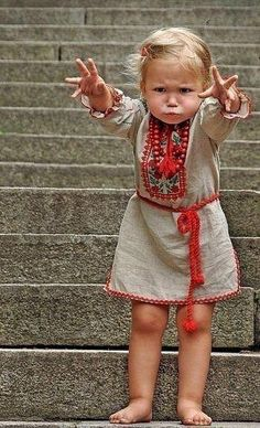 Love this girl in national embroidery , Ukraine, from Iryna Looks like Elsa isn't she cute? Precious Children, Beautiful Children, Beautiful Babies, Beautiful People, Cool Baby, Baby Kind, Little People, Little Ones, Cute Kids