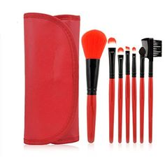 Professional 7 PCS Makeup Brushes Set Tools Make-up Toiletry Kit Wool Brand Make Up Brush Set Case Cosmetic Foundation Brush Lipstick Brush, Mascara Brush, Concealer Brush, Eyebrow Brush, It Cosmetics Brushes, Eyeshadow Brushes, Makeup Cosmetics, Cosmetic Brushes, Beauty Brushes
