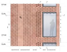 Press House facade detail with brick variations