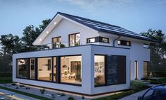 Bien-Zenker - CONCEPT-M 210 Günzburg- Bien-Zenker – CONCEPT-M 210 Günzburg The Concept-M 210 model house in Günzburg impresses with its extraordinary architecture and interior design and living comfort. Future House, Sun Wall Decor, House Extension Design, Design Exterior, House Extensions, Model Homes, Modern House Design, Home Fashion, Architecture Design
