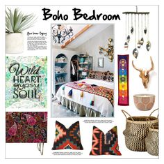 """Boho Bedroom"" by lgb321 ❤ liked on Polyvore featuring interior, interiors, interior design, home, home decor, interior decorating, Allstate Floral, Murmur, Paddywax and Gypsy Soul"