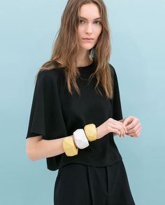 Image 1 of CROPPED TOP WITH KIMONO SLEEVES from Zara