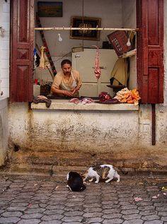 The Butcher in Fez medina, Morocco #People of #Morocco - Maroc Désert Expérience tours http://www.marocdesertexperience.com