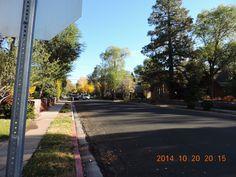 Quiet street in Flagstaff, Arizona