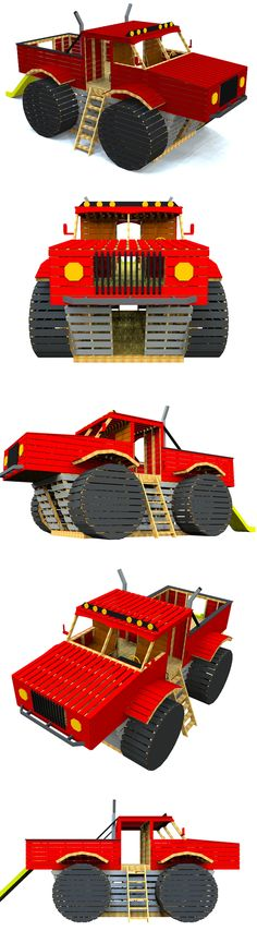 The monster truck playhouse plan, hosted on paulsplayhouses.com