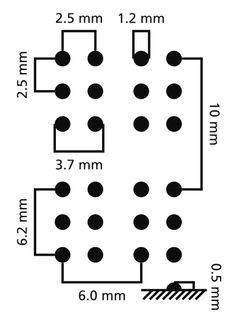 Braille dimensions.