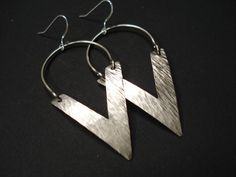 V for Vendetta Earrings-Silver Handmade by AnnaRecycle on Etsy