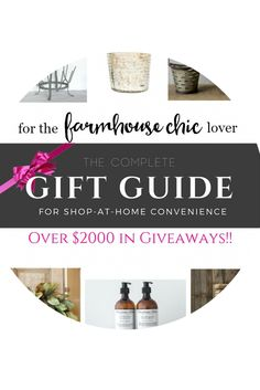 Sneak peek at the gift guide for the farmhouse chic lover from Farmhouse Chic Blog! Goes LIVE November 6th!!!