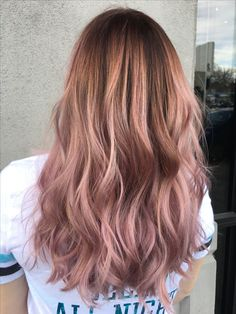 The most fashionable, long hair coloring types 2019 - long hair color 13 Ombre Hair, Balayage Hair, Blonde Hair, Haircolor, Gold Hair, Pink Hair, Hair Day, New Hair, Cabelo Rose Gold