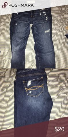 Abercrombie and Fitch straight leg jeans Perfect condition only worn once. Straight leg Abercrombie & Fitch Jeans Straight Leg