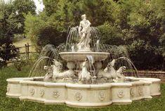 Cast Stone Garden Fountains  Large Garden Fountain Monumental  Fountain Estate Fountain Fontana Giubileo 18' diameter 10' high