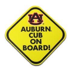 Decal, Auburn Cub On Board | Auburn University Bookstore