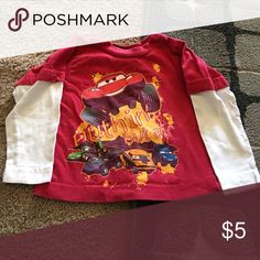 Boys shirt Size 12 months. Cardinals shirt and Disney cars shirt. NFL Shirts & Tops Tees - Short Sleeve