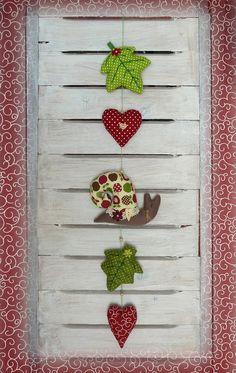 Girlanden & Wimpelketten - Girlande*Schnecke*Herz*Blatt*Herbst* Landhaus* - ein Designerstück von lucywelt bei DaWanda