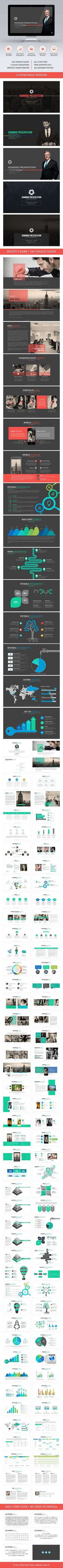 Humming PowerPoint Template #design #slides #presentation Download: http://graphicriver.net/item/humming-powerpoint/13132107?ref=ksioks