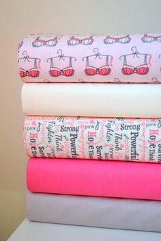 Riley Blake Think Pink Fabric and the Heart Pillow Project for Breast Cancer Patients