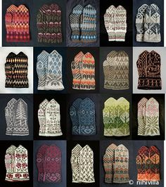 Riihivilla, Dyeing with natural dyes: MITTEN KITS