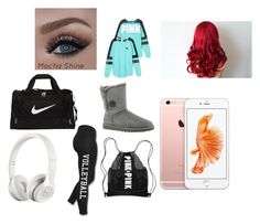 """Mocha shine"" by ksw1108 ❤ liked on Polyvore featuring Victoria's Secret, UGG Australia, NIKE and Beats by Dr. Dre"