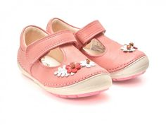 Pantofi pentru copii CLARKS roz, 6133633, din piele naturala   Otter.ro