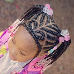 2019 Lovely Braids for Cute Little Kids - Naija's Daily Toddler Braided Hairstyles, Toddler Braids, Black Hair Updo Hairstyles, Black Kids Hairstyles, Cute Little Girl Hairstyles, Little Girl Braids, Baby Girl Hairstyles, Black Girl Braids, Braids For Black Hair