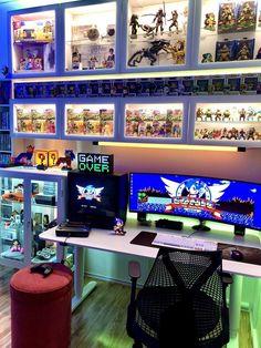 BROTHERTEDD.COM Gaming Room Setup, Computer Setup, Pc Setup, Gaming Rooms, Small Game Rooms, Geek Room, Videogames, Geeks, Game Room Design