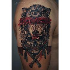 Badass Wolf Tattoo Designs - Wolf Tattoos For Men: Best Wolf Tattoo Ideas and Co. - Badass Wolf Tattoo Designs – Wolf Tattoos For Men: Best Wolf Tattoo Ideas and Cool Designs For Gu - Body Art Tattoos, New Tattoos, Tattoos For Guys, Sleeve Tattoos, Taino Tattoos, Wolf Tattoo Sleeve, Fake Tattoos, Tatoos, Wolf Tattoos Men