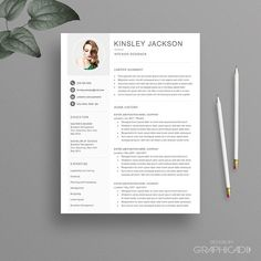 Resume Cover Letter Templates Resume & Cover Letter Template  Resumes  Resume  Pinterest .