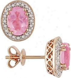 WANTWANTWANT Rose gold pink earring :))