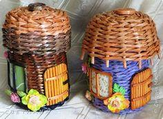 Поделка изделие Плетение Еще плетенки разные  Трубочки бумажные фото 2
