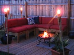 Simple Modern Outdoor Sectional | Do It Yourself Home Projects from Ana White