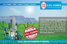 The CRI solar pumps is used for agricultural, farms, gardens, drinking water, households, commercial and industrial purposes at low cost. #solar pumping system #solar pumps coimbatore