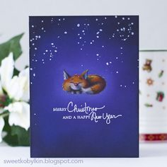 Every year and season bring us new techniques and brands. I am sharing a card combining three of my favourites. Holiday Cards, Christmas Cards, Happy We, Purple Ombre, Christmas Inspiration, Winter Holidays, Stencils, Merry, Watercolor