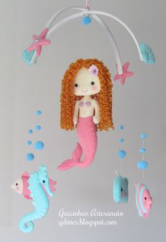 "Nursery mobile ""under the sea friends"""