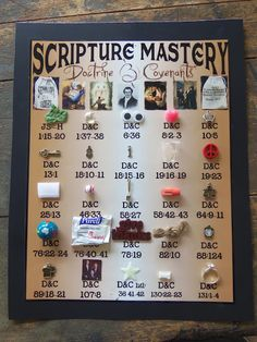 Seminary Scripture Mastery for the Doctrine and Covenants. Such a great idea to have objects to help with memorization! Love.