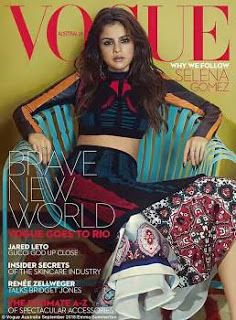 Selena Gomez is simply gorgeous and sultry on the cover of Vogue Australia 's August edit...