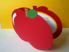 convite maçã...branca de neve