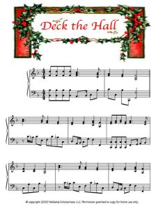 Deck the Halls Christmas Piano Sheet Music, Easy Piano Sheet Music, Song Sheet, Christmas Music, Piano Music, Christmas Carol, Deck The Halls Song, Free Piano, Lds