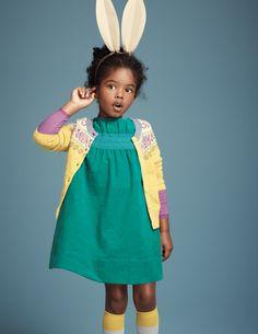 Smocked Cord Dress, kids fashion
