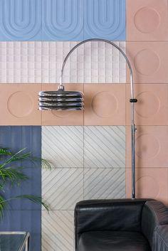 KAZA Concrete Releases a Bauhaus-Inspired Tile Collection by Aimee Munro - Design Milk Bauhaus Interior, Bauhaus Architecture, Motif Simple, Ecole Design, Mosaic Wallpaper, Black Interior Doors, Bauhaus Design, Room Interior Design, Interior Ideas