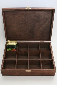 Wooden Tea / Keepsake / Jewelry Box 12 Compartments by WoodPower