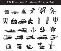 28 Tourism Custom Shape Set  #GraphicRiver         28 Tourism Custom Shape Set in one CSH file  Photoshop custom shape file  Scalable to any size  CSH file included       Created: 11June13 Add-onFilesIncluded: PhotoshopCSH MinimumAdobeCSVersion: CS WorksWith: Vector Tags: cars #csh #custom #photoshop #set #shape #ships #tourism