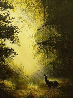 Woodland glade...acrylic on canvas