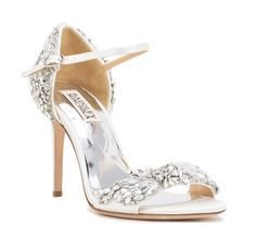Sparkly Tampa had a crystal embellished d'orsay heel and peep toe