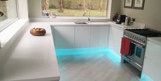 Tristone Iris solid surface worktop installation in Solihull. Tristone is popular Corian alternative.