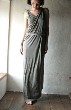 Maxi dress Grecian dress tunic dress womens clothing от larimeloom