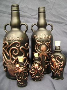 Awesome bottles for Kraken.
