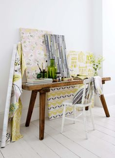 Gorgeous fabrics from the Folia range, supplied by Charles Parsons. Available from Guthrie Bowron