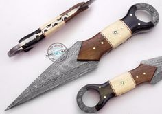 "9.00"" Custom Hand Beautiful Damascus Steel Dagger Knife (946-2) #UltimateWarrior"