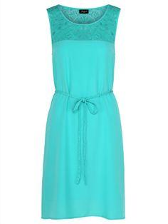 'Grace' Embroidered Mesh Yoke Dress $69.99