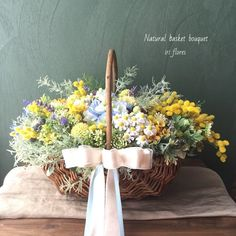Basket Flower Arrangements, Rose Arrangements, Table Flowers, Love Flowers, Dried Flowers, Wedding Flowers, Small Bouquet, Ring Pillow Wedding, Butterfly Decorations